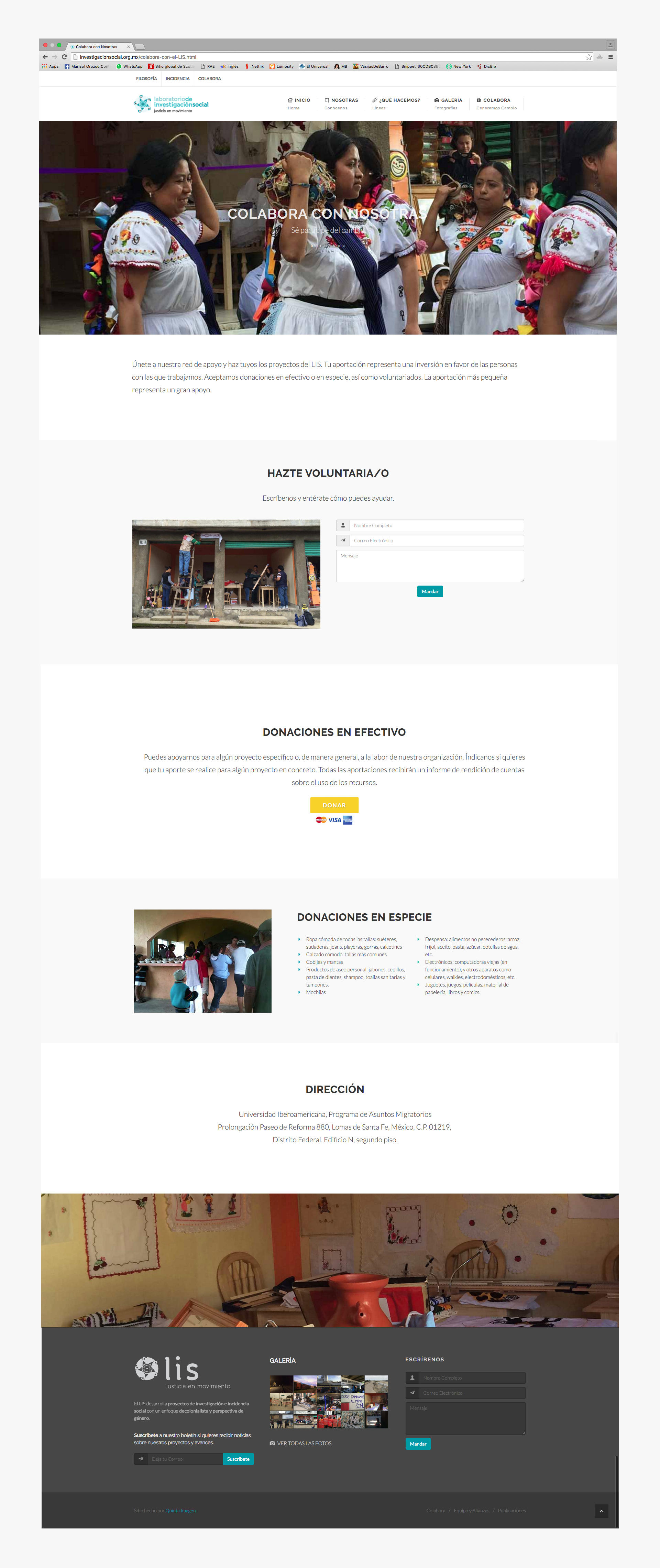 pagina de colabora del sitio web de LIS investigacion social