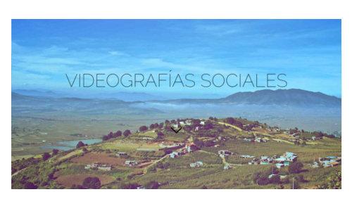 videografias sociales, portada del sitio de camaroni producciones