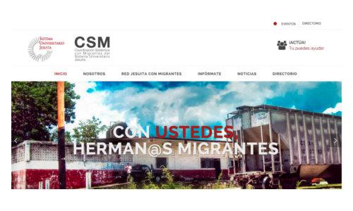 Portada del sitio web para la cs con migrantes