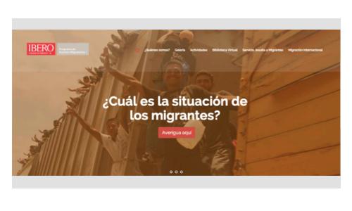 portada del sitio web prami asuntos migratorios ibero uia