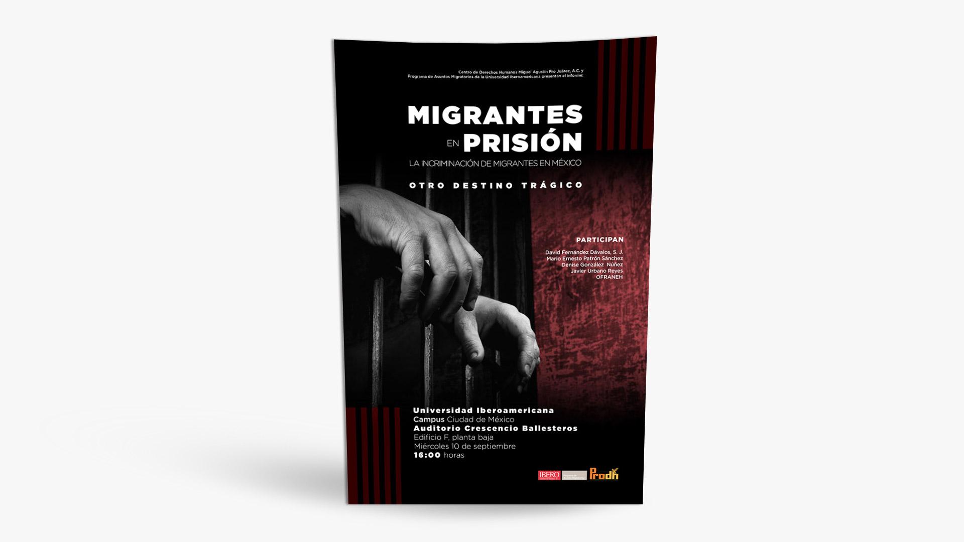 poster migrantes en prision