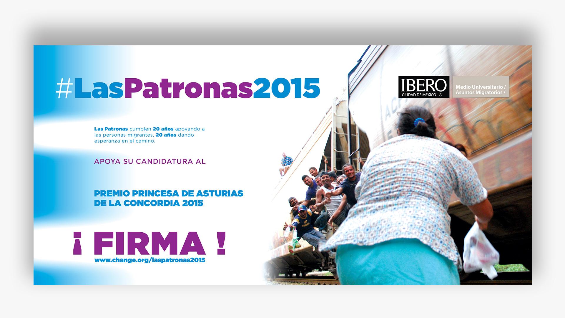 Imagen para facebook, para promover la candidatura de las PATRONAS