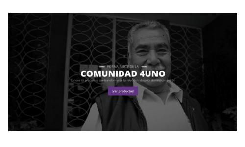 Portada de sitio web COMUNIDAD 4UNO