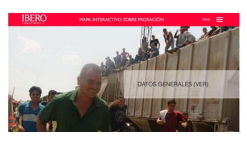 Pagina del mapa interactivo web de prami
