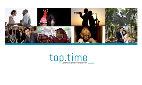 portada del sitio web de top time