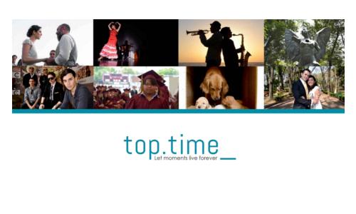 portada del sitio web de top time